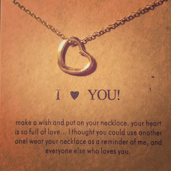 Jewelry - Dogeared inspired I Love You Necklace